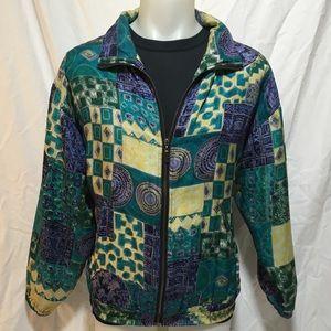 Modern Pattern Windbreaker Jacket